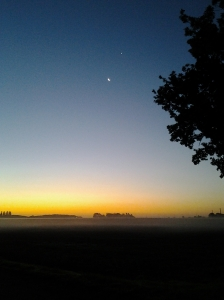 fog and sunrise oct 15