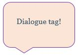 dialogue tag