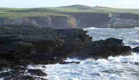 Angry Anglesey coast